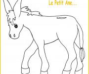 Coloriage et dessins gratuit Le petit âne à imprimer