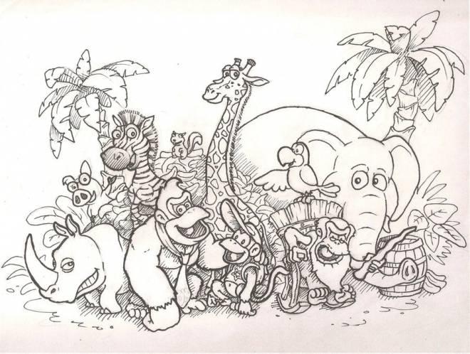 Coloriage et dessins gratuits Les animaux d'afrique à imprimer