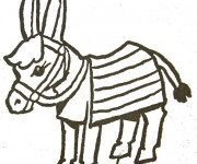 Coloriage et dessins gratuit Petit âne à imprimer