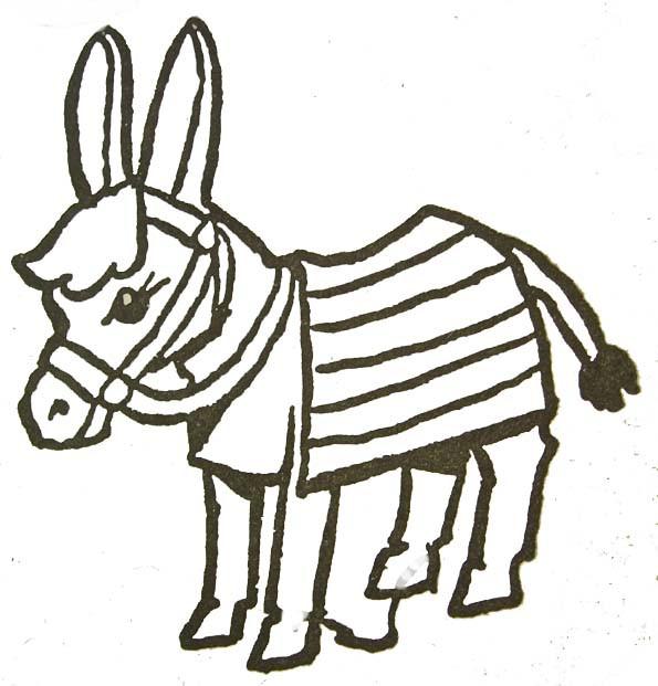 Coloriage et dessins gratuits Petit âne à imprimer