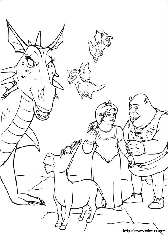 Coloriage et dessins gratuits Shrek dessin animé à imprimer