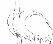 Coloriage dessin  Autruche 14