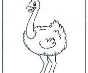 Coloriage dessin  Autruche 2