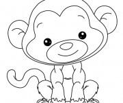 Coloriage dessin  Babouin 4