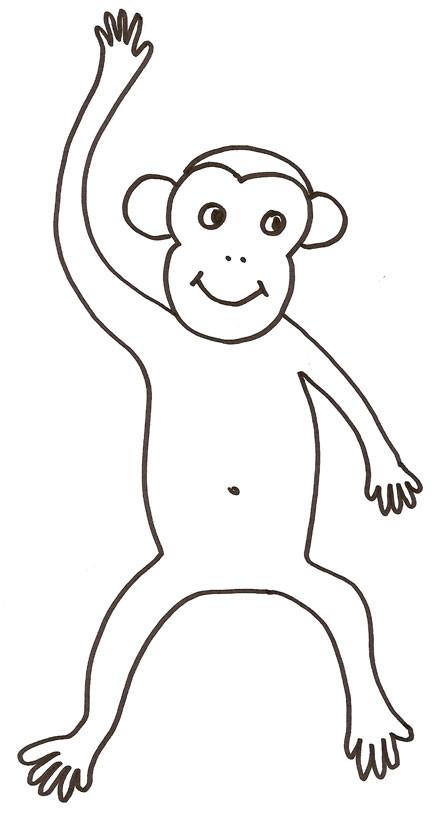 Coloriage et dessins gratuits Babouin au crayon à imprimer