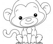 Coloriage Babouin mignon