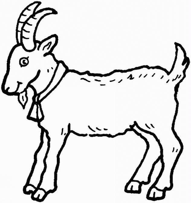 Coloriage et dessins gratuits Chèvre facile à découper à imprimer