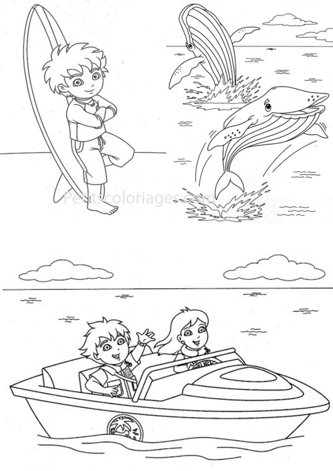Coloriage et dessins gratuits Baleine et enfants à imprimer
