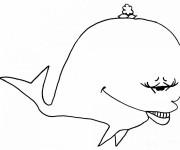 Coloriage Baleine rigolote