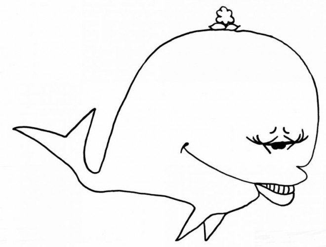 Coloriage et dessins gratuits Baleine rigolote à imprimer