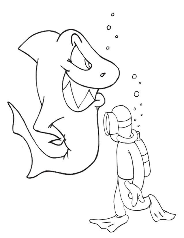 Coloriage le requin malin dessin gratuit imprimer - Coloriage de requin a imprimer gratuit ...
