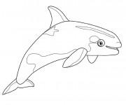 Coloriage et dessins gratuit Une petite Baleine à imprimer