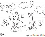 Coloriage dessin  Belette 8