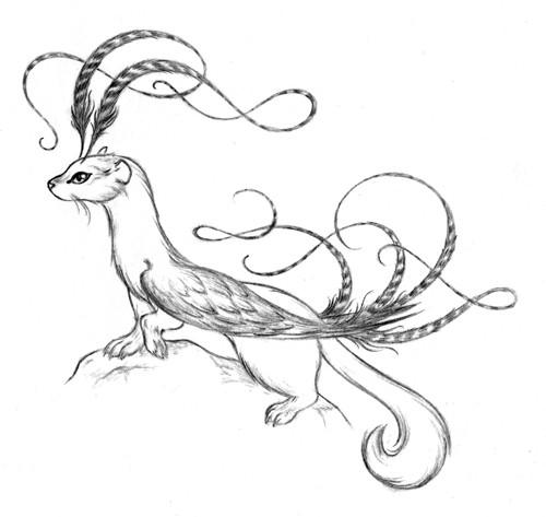 Coloriage et dessins gratuits Belette à télécharger à imprimer