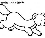 Coloriage et dessins gratuit Belette et Lettres à imprimer