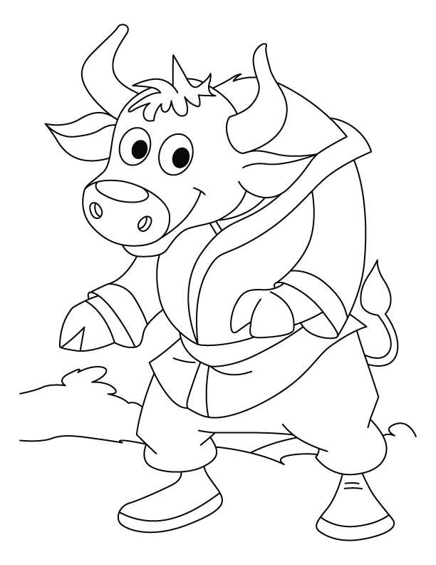 Coloriage bison dr le portant sa robe de chambre - Coloriage bison ...