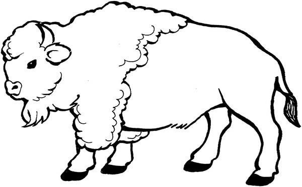Coloriage et dessins gratuits Bison en noir et blanc à imprimer