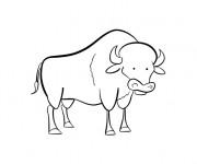 Coloriage et dessins gratuit Bison humoristique à imprimer