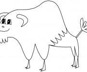 Coloriage et dessins gratuit Bison pour enfant à imprimer