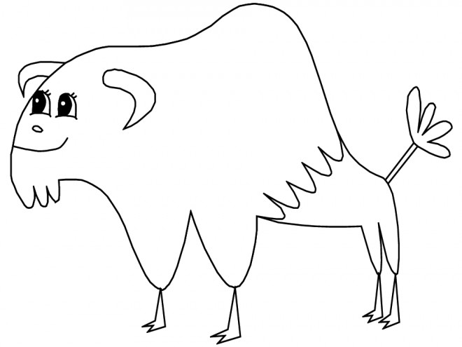 Coloriage et dessins gratuits Bison pour enfant à imprimer