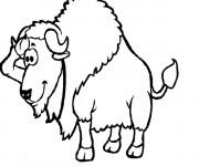 Coloriage et dessins gratuit Bison rigolo à imprimer