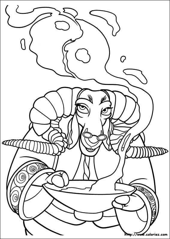 Coloriage et dessins gratuits Boeuf magicien à imprimer