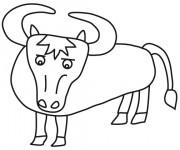 Coloriage et dessins gratuit Boeuf pour enfant à imprimer