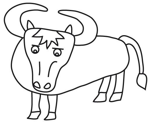 Coloriage et dessins gratuits Boeuf pour enfant à imprimer