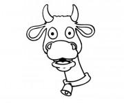 Coloriage et dessins gratuit Tête vache à imprimer