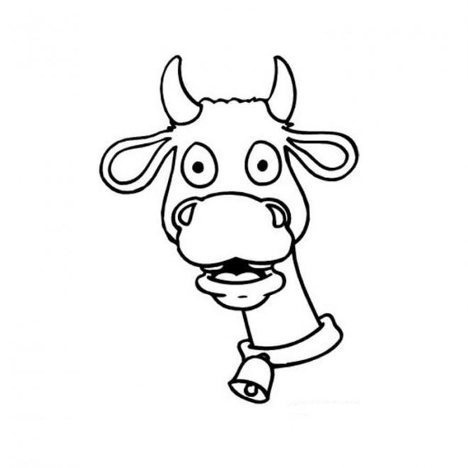 Coloriage Tête Vache Dessin Gratuit à Imprimer