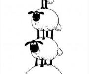 Coloriage Brebis dessin animé