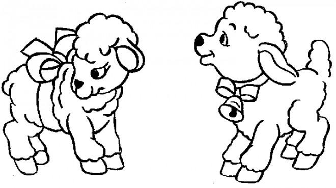 Coloriage et dessins gratuits Brebis mignons à imprimer