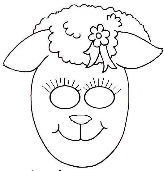 Coloriage et dessins gratuits Masque Brebis à imprimer