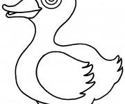 Coloriage Canard avec des beaux yeux