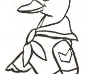 Coloriage Canard discipliné