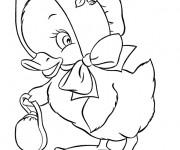 Coloriage Caneton dessin animé