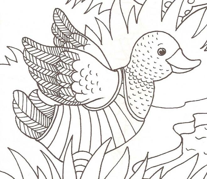 Coloriage et dessins gratuits Caneton essaie de voler à imprimer