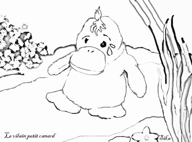 Coloriage et dessins gratuits Caneton gros à imprimer