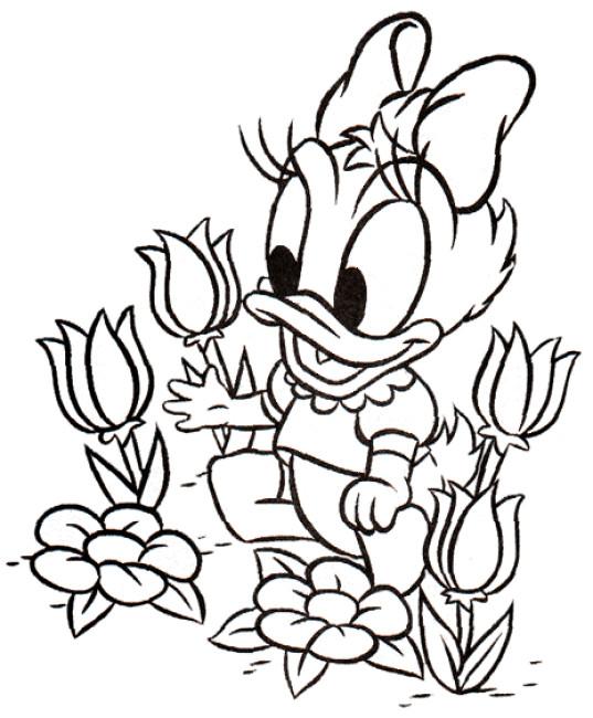 Coloriage et dessins gratuits Daisy bébé entrain de jouer à imprimer