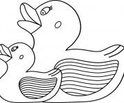 Coloriage Des jouets de canard