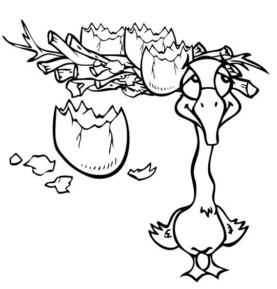 Coloriage et dessins gratuits Le caneton moche à imprimer
