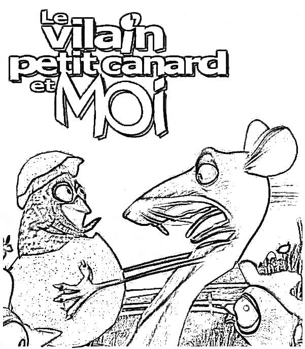 Coloriage et dessins gratuits Le vilain petit canard à imprimer