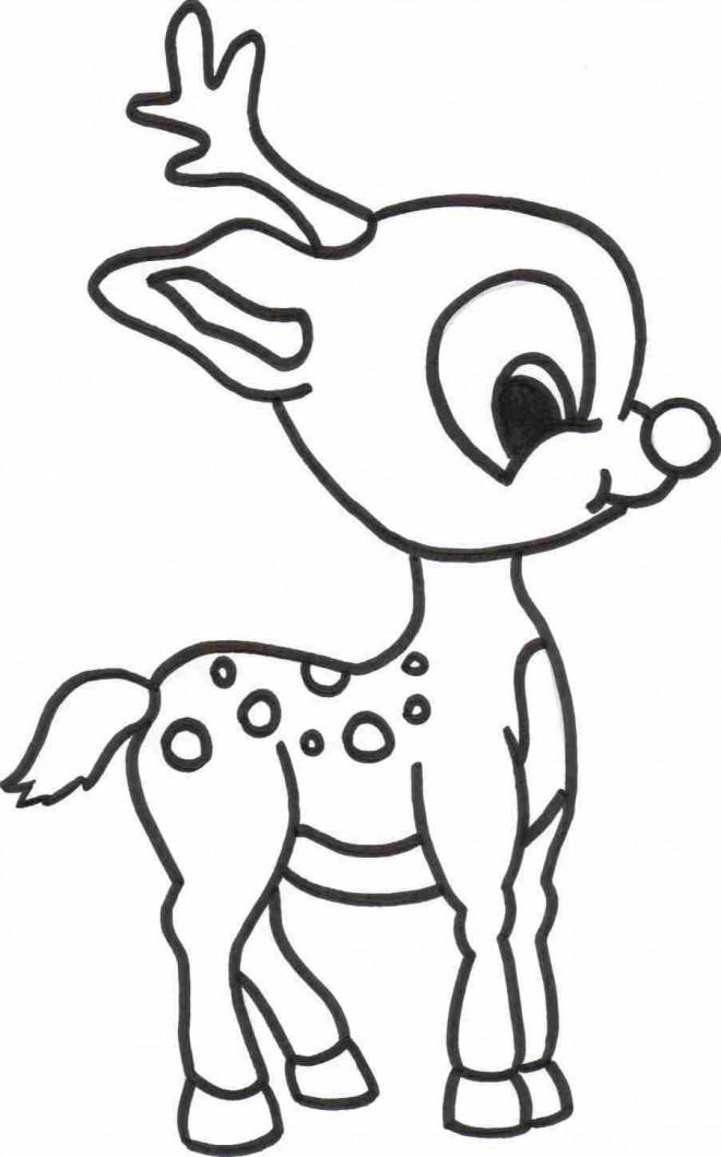 Coloriage et dessins gratuits Bébé Caribou à imprimer