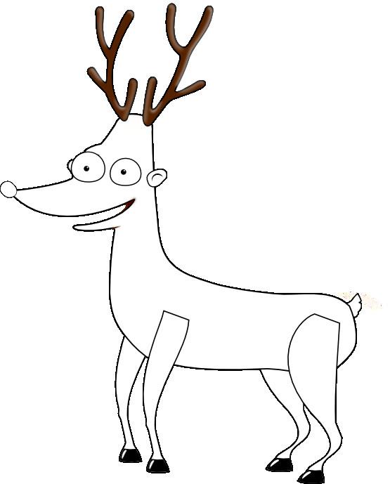 Coloriage et dessins gratuits Caribou amusant à imprimer