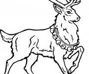 Coloriage Caribou de noël