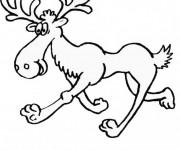 Coloriage et dessins gratuit Caribou drôle à imprimer