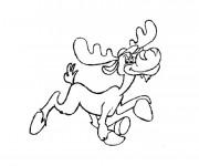 Coloriage Caribou humoristique