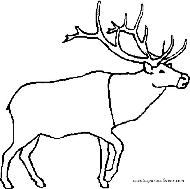 Coloriage et dessins gratuits Caribou simple à imprimer