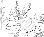 Coloriage Caribou surpris