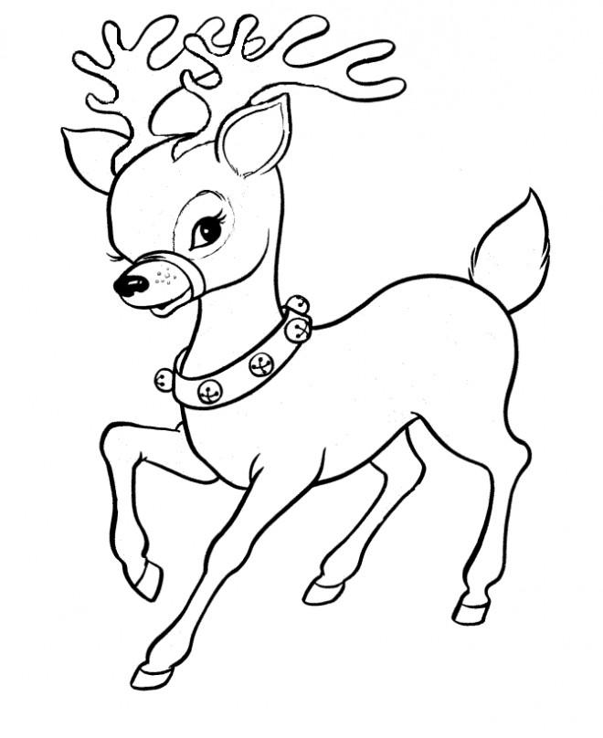 Coloriage et dessins gratuits Caribou trop mignon à imprimer